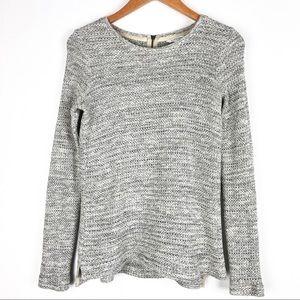 CLUB MONACO sweater Small gray exposed zipper t719